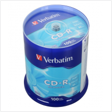 Диск CD-R Verbatim 700Mb 52х 100шт Cake Box