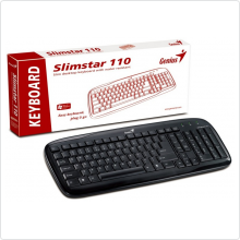 Клавиатура Genius (SlimStar 110) PS/2, black, BOX