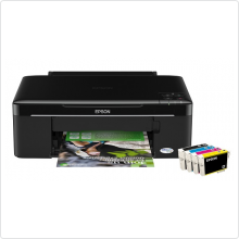 МФУ струйное Epson (STYLUS Office SX125) цветное, A4, принтер/копир/сканер, 28 стр/мин(ч/б), 15 стр/мин(цветн), USB