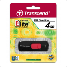 Флеш-накопитель 4Gb Transcend (TS4GJF500) USB 2.0, black/red