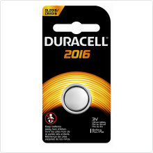 "Батарейка ""CR2016"" Duracell (DL2016] 3.0V, 1шт, 80мАч"