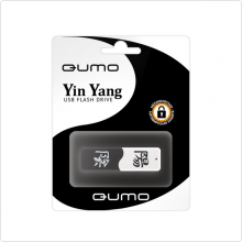 Флеш-накопитель 32Gb Qumo (QM32GUD-Y&Y) USB 2.0, black/white