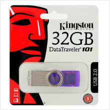 Флеш-накопитель 32Gb Kingston (DT101G2/32GB) USB 2.0, violet/silver
