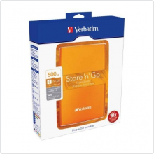 "Внешний жесткий диск 500Gb Verbatim (Store 'n' Go) 2.5"" USB3.0 5400rpm volcanic orange (53028)"