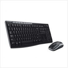 Клавиатура+мышь Logitech (Wireless Desktop MK270) беспроводной, 1000dpi, USB, black (920-004518)