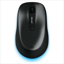 Мышь беспроводная Microsoft (Wireless Mouse 2000) 1000 dpi, USB, black/grey (36D-00012)