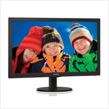 "Монитор 23.6"" Philips (243V5LSB/00) LED, 1920x1080, 5ms, 10M:1, VGA, DVI"