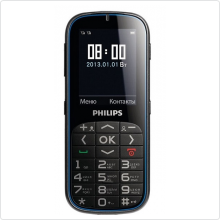 "Телефон Philips (X2301) Black, 2.4"", LCD 240x320, BT2.0, mSD, MP3, FM, Cam0.3, 2xSim"