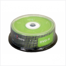 Диск DVD-R Intro 4.7Gb 16х 25шт Shrink