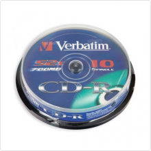 Диск CD-R Verbatim 700Mb 52х 10шт Cake Box