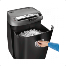 Уничтожитель документов Fellowes (PowerShred 75Cs) класс секр 3, 12лст., 27лтр., фрагм. 4х38 мм, скрепки/степлерные скобы/кредит карты/CD