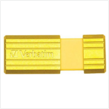 Флеш-накопитель 16Gb Verbatim (Pinstripe) USB 2.0, yellow
