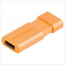 Флеш-накопитель 8Gb Verbatim (Pinstripe) USB 2.0, orange