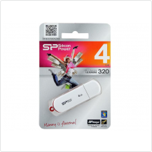 Флеш-накопитель 4Gb Silicon Power (LuxMini 320) USB 2.0, White