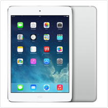 "Планшет 7.9"" Apple iPad mini Retina TFT/32Gb/2048x1536/iOS7/WiFi/BT/mSD/multi-touch/4G/Cam/6471мАч/silver (ME824RU/A)"