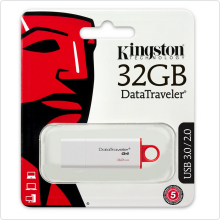 Флеш-накопитель 32Gb Kingston (DTIG4/32GB) USB3.0, white/red