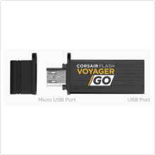 Флеш-накопитель 16Gb Corsair (Voyager GO CMFVG-16GB-EU) USB 3.0, black