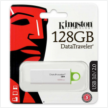 Флеш-накопитель 128Gb Kingston (DTIG4/128GB) USB3.0, white/green