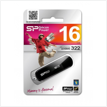 Флеш-накопитель 16Gb Silicon Power (LuxMini 322) USB 2.0, black