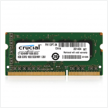 память 8192Mb SODIMM DDR3 PC3-12800 1600MHz Crucial (CT102464BF160B)