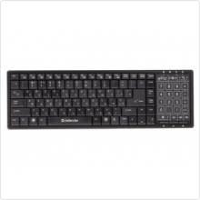 Клавиатура Defender (TouchBoard MT-525) беспроводная, USB, black