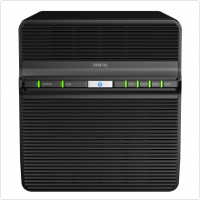 "Сетевое хранилище Synology (DS414J Slim) 4x3.5"" SATA USB3.0 black"