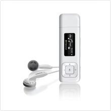 "Плеер Flash Transcend MP330 8Gb 1"" FM  (TS8GMP330W) белый"
