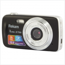 Фотокамера Rekam (iLook S750i) Black 12Mpx, 5.3mm, 4x, 4000x3000. Видео: 1280x720