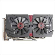 Видеокарта 2048Mb Asus GeForce GTX 960 (STRIX-GTX960-DC2OC-2GD5) 128bit DDR5 DVI HDMI DP RTL