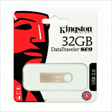 Флеш-накопитель 32Gb Kingston (DTSE9H/32GB) USB 2.0, silver