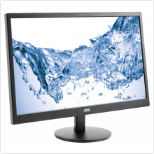 "Монитор 23.6"" AOC E2470Swda черный TN+film LED 5ms 16:9 DVI M/M матовая 250cd 1920x1080 D-Sub FHD"