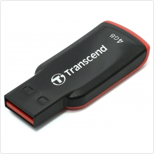 Флеш-накопитель 4Gb Transcend (TS4GJF360) USB 2.0, black/red