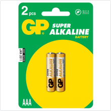 "Батарейка ""AAA"" GP Super Alkaline (24A-2CR2) 1,5V, 2шт"